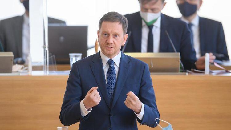 Michael Kretschmer (CDU), Ministerpräsident von Sachsen. Foto: Robert Michael/dpa-Zentralbild/dpa/Aktuell