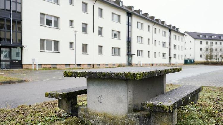 Wohnhäuser stehen auf dem ehemaligen Gelände der US-Siedlung