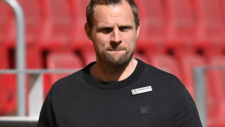Bo Svensson, Trainer von Mainz 05. Foto: Torsten Silz/dpa/Archivbild