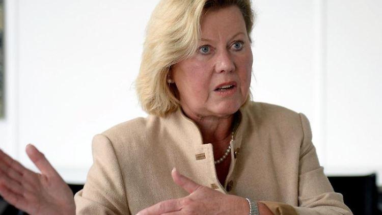 Die niedersächsische Datenschutzbeauftragte Barbara Thiel spricht. Foto: picture alliance / Elena Metz/dpa/Archivbild