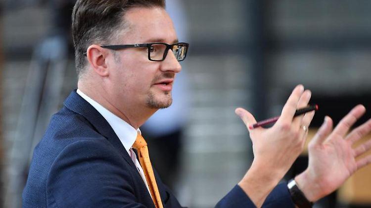 Christian Tischner (CDU), bildungspolitischer Sprecher der CDU-Fraktion, spricht. Foto: Martin Schutt/dpa-Zentralbild/dpa/Archivbild