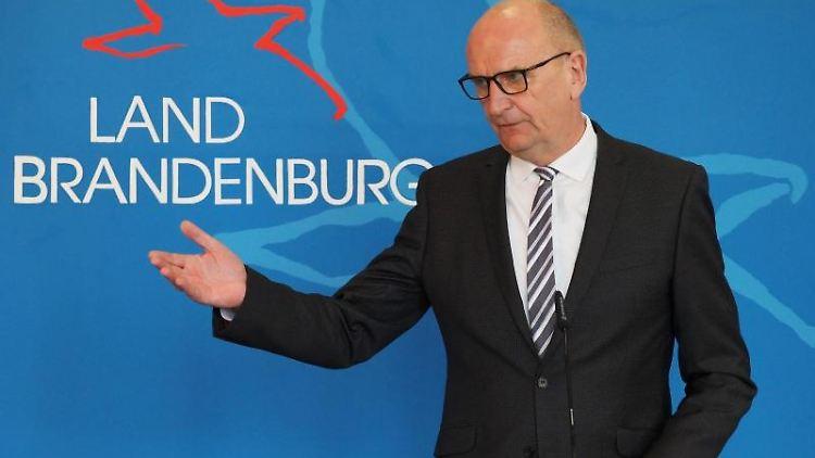 Dietmar Woidke (SPD), Ministerpräsident von Brandenburg, spricht. Foto: Soeren Stache/dpa-Zentralbild/dpa