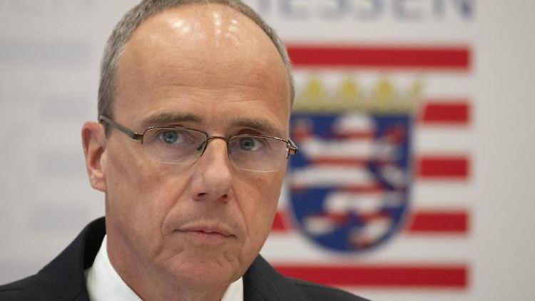 Hessens Innenminister Peter Beuth (CDU). Foto: Boris Roessler/dpa