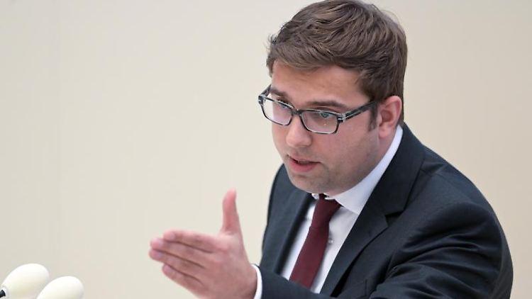 Erik Stohn, SPD-Fraktionsvorsitzender in Brandenburg. Foto: Soeren Stache/dpa-Zentralbild/dpa/Archivbild