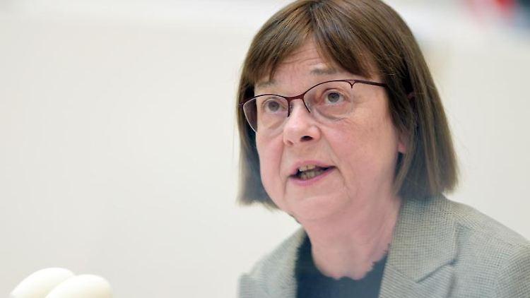 Ursula Nonnemacher (Bündnis 90/Die Grünen), Ministerin für Soziales, spricht. Foto: Soeren Stache/dpa-Zentralbild/dpa