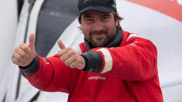 Boris Herrmann, Skipper aus Deutschland. Foto: Loic Venance/POOL AFP/AP/dpa/Archivbild