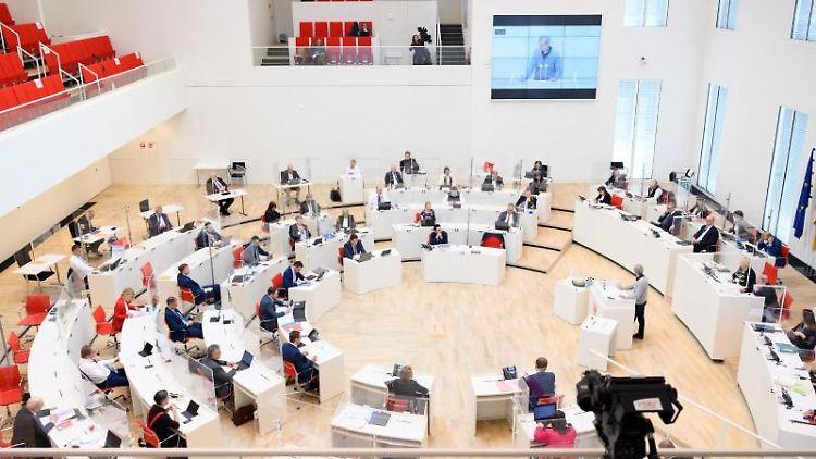 Der Brandenburger Landtag. Foto: Soeren Stache/dpa-Zentralbild/dpa/Archivbild