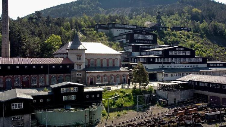 Blick auf das UNESCO-Weltkulturerbe Besucherbergwerk Rammelsberg. Foto: Swen Pförtner/dpa/Archivbild