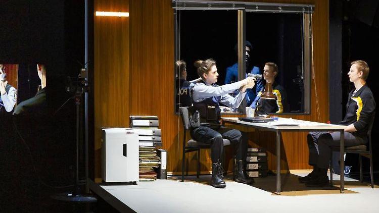 Eine Szene aus dem Stück
