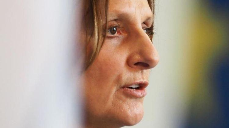 Britta Ernst (SPD) spricht. Foto: Soeren Stache/dpa-Zentralbild/dpa/Archivbild
