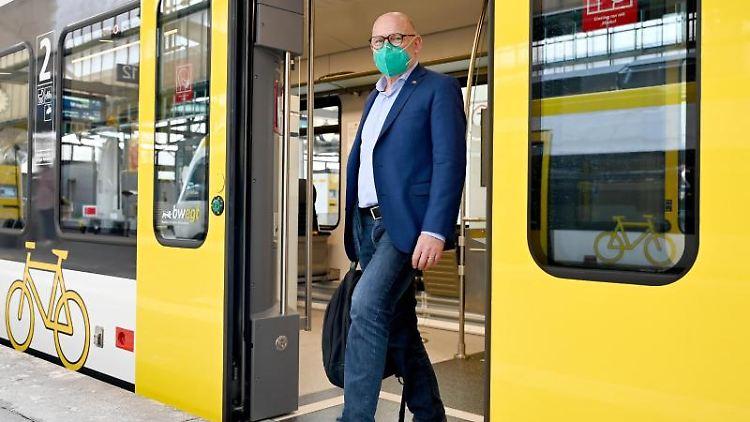 Winfried Hermann (Bündnis 90/Die Grünen), Verkehrsminister von Baden-Württemberg. Foto: Bernd Weißbrod/dpa/Archivbild