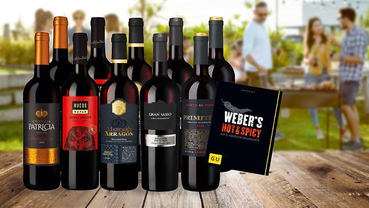 ntv-Leser bekommen Rabatt auf die besten Weine zum Grillen.