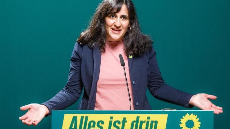 Maryam Blumenthal, neue Landesvorsitzende der Hamburger Grünen. Foto: Markus Scholz/dpa/Archivbild