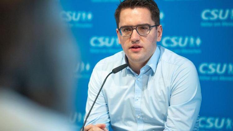 Christian Doleschal (CSU), bayerischer Landesvorsitzender der Jungen Union (JU). Foto: Lino Mirgeler/dpa/Archivbild