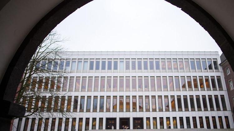 Das Justizzentrum Aachen mit dem Amts- und Landgericht. Foto: Marius Becker/dpa