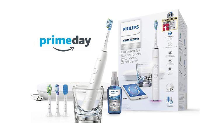 Die Zahnbürste im Prime-Day-Angebot erhielt von der Stiftung Warentest die Note 1,8.