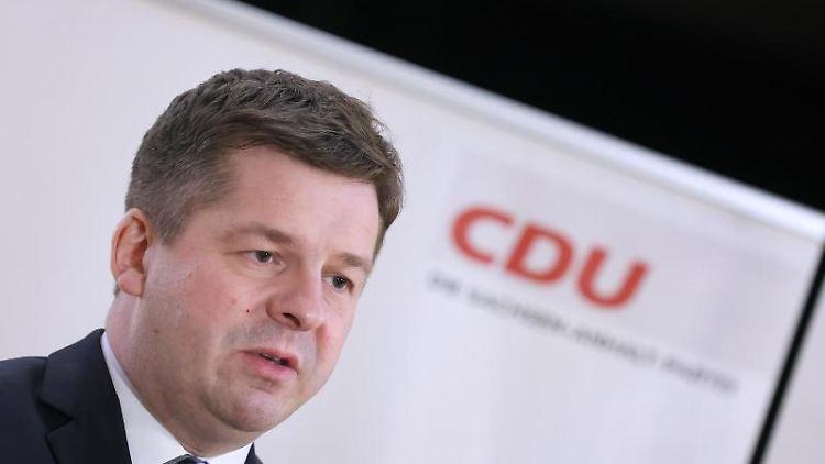 Sven Schulze, Landesvorsitzender der CDU Sachsen-Anhalt. Foto: Ronny Hartmann/dpa/Archivbild