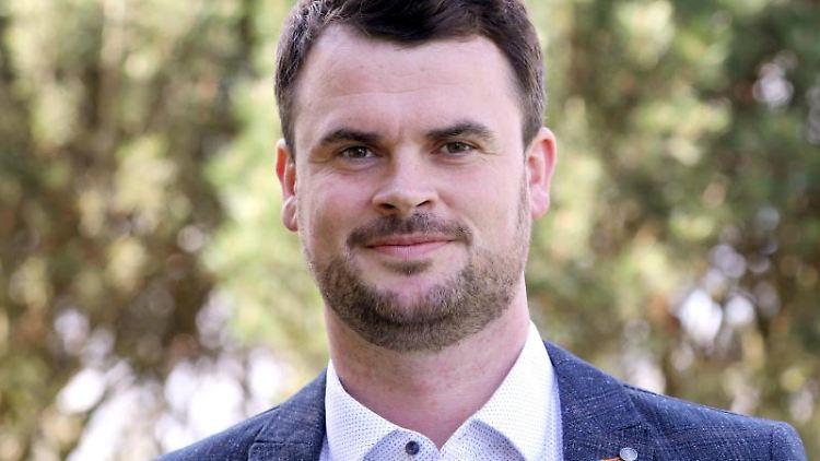 Der neu gewählte Landrat Tino Schomann (CDU). Foto: Bernd Wüstneck/dpa-Zentralbild/dpa/Archivbild