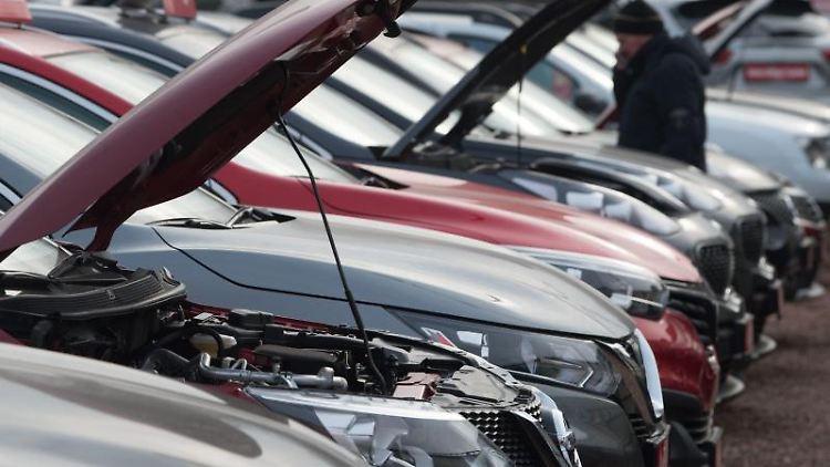 Neu- und Gebrauchtwagen stehen bei einem Autohändler nebeneinander. Foto: Sebastian Kahnert/dpa-Zentralbild/dpa/Archivbild