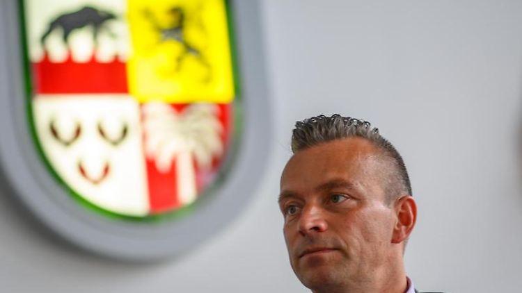 Andy Grabner (CDU), Landrat des Landkreises Anhalt-Bitterfeld. Foto: Klaus-Dietmar Gabbert/dpa/Archivbild