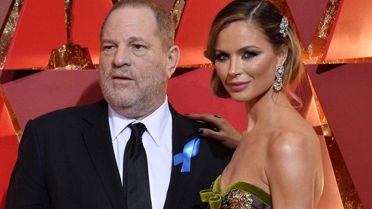 Produzent Harvey Weinstein die Designerin Georgina Chapman bei der 89. Oscar-Verleihung.