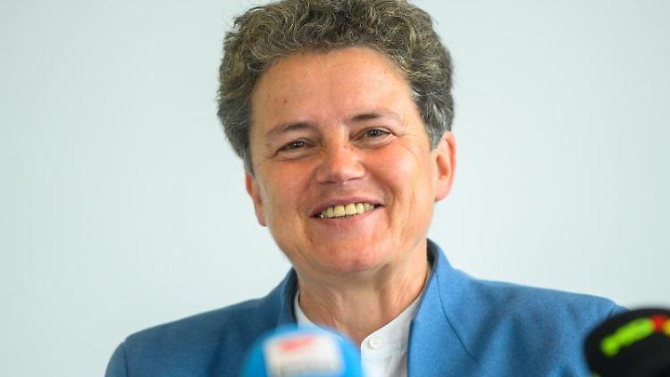 Lydia Hüskens, stellvertretende Landesvorsitzende der FDP Sachsen-Anhalt, nimmt an einer Pressekonferenz teil. Foto: Klaus-Dietmar Gabbert/dpa-Zentralbild/dpa/Archivbild