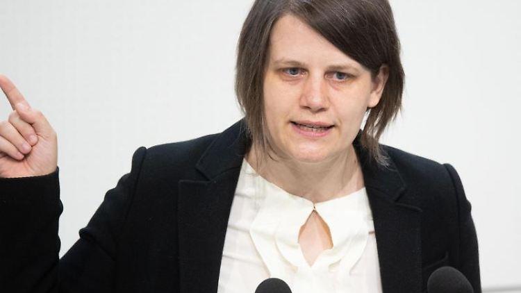Julia Willie Hamburg, die Fraktionsvorsitzende der Grünen in Niedersachsen. Foto: Julian Stratenschulte/dpa/Archivbild
