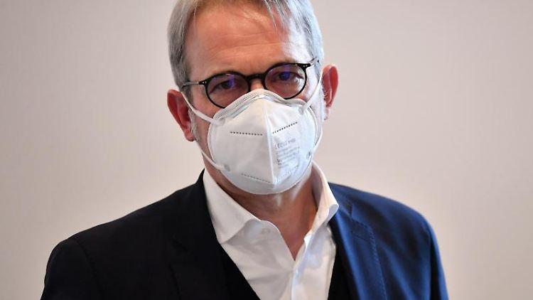 Georg Maier (SPD), Innenminister von Thüringen. Foto: Martin Schutt/dpa-Zentralbild/dpa