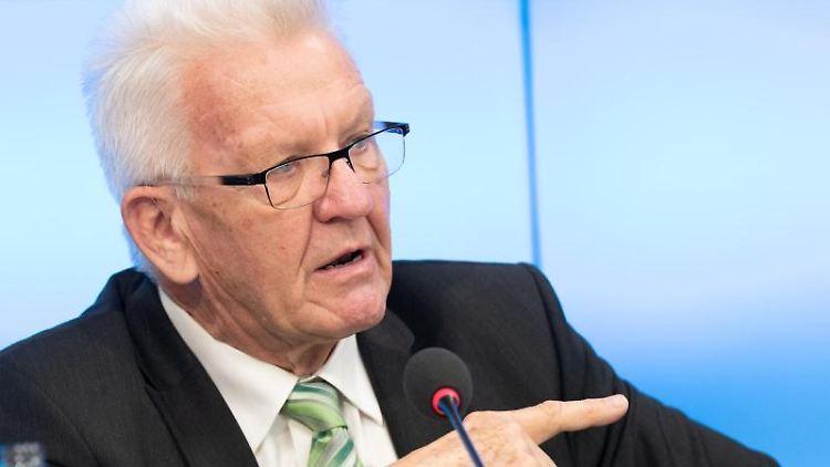 Winfried Kretschmann (Bündnis 90/Die Grünen) spricht. Foto: Bernd Weißbrod/dpa/Archivbild