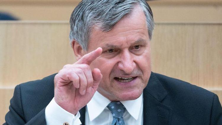 Hans-Ulrich Rülke (FDP) spricht imLandtag. Foto: Marijan Murat/dpa