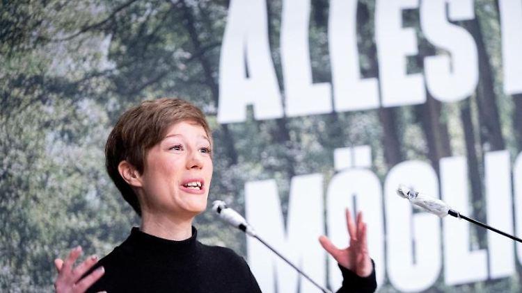 Julia Schmidt, brandenburgische Landesvorsitzende von Bündnis 90/Die Grünen. Foto: Kay Nietfeld/dpa/Archivbild