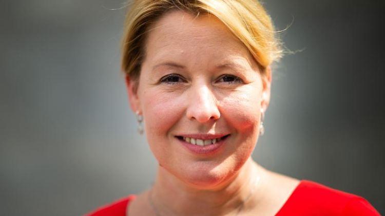 Franziska Giffey (SPD), Spitzenkandidatin der SPD für die Wahl zum Abgeordnetenhaus Berlin im September. Foto: Jonas Güttler/dpa/Archivbild