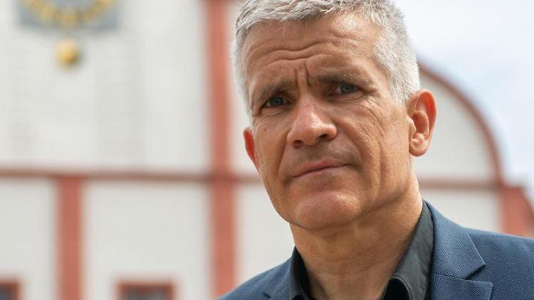 Matthias Berger (parteilos), Oberbürgermeister der Stadt Grimma. Foto: Hendrik Schmidt/dpa-Zentralbild/dpa