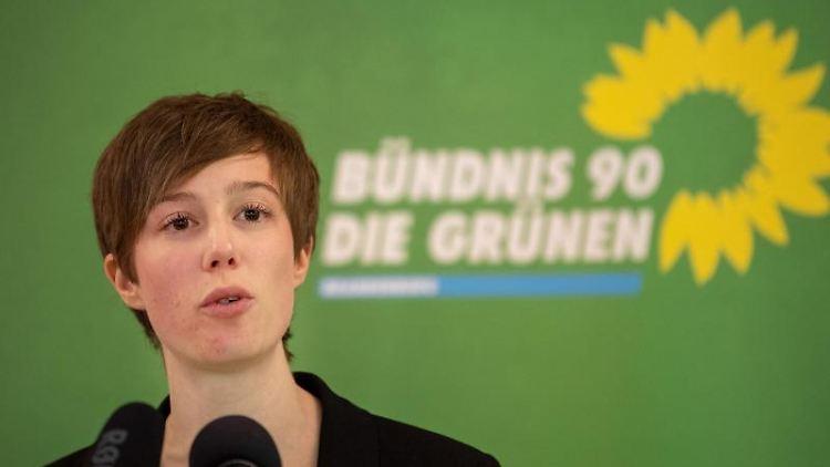 Julia Schmidt, Landesvorsitzende von Bündnis 90/Die Grünen in Brandenburg. Foto: Monika Skolimowska/dpa-Zentralbild/dpa/Archivbild
