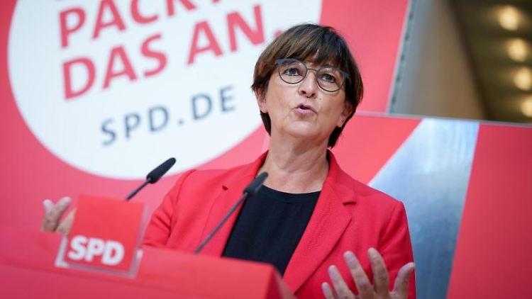 Saskia Esken, SPD-Bundesvorsitzende. Foto: Kay Nietfeld/dpa/Archivbild