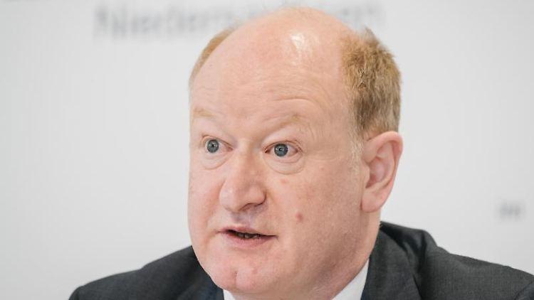 Reinhold Hilbers (CDU), Finanzminister von Niedersachsen. Foto: Ole Spata/dpa/Archivbild