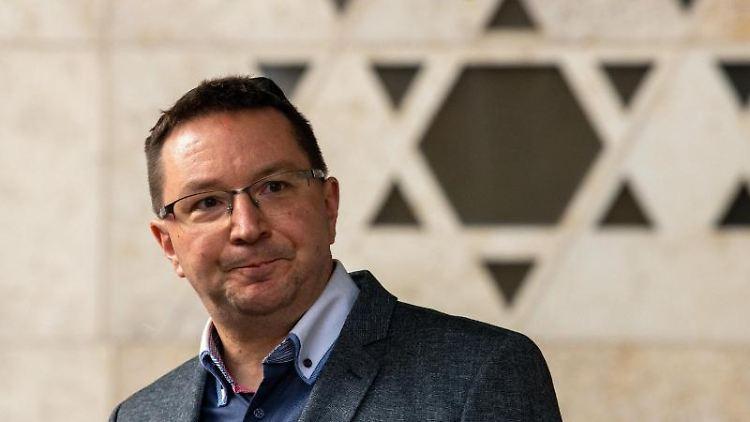 Michael Blume, Antisemitismusbeauftragte der Landesregierung Baden-Württemberg, spricht. Foto: Stefan Puchner/dpa/Achivbild