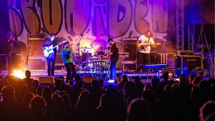 Jakob Amr und die Indie-Rock-Band Leoniden spielen beim Konzert