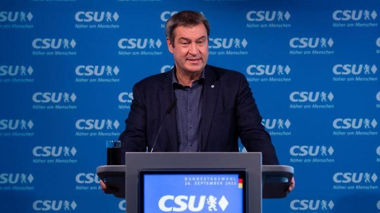 Markus Söder (CSU), Ministerpräsident von Bayern, nimmt an einer Pressekonferenz teil. Foto: Sven Hoppe/dpa/Archivbild