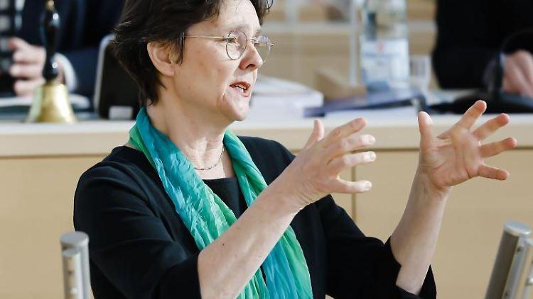 Monika Heinold (Bündnis 90/Die Grünen) spricht. Foto: Frank Molter/dpa/Archivbild