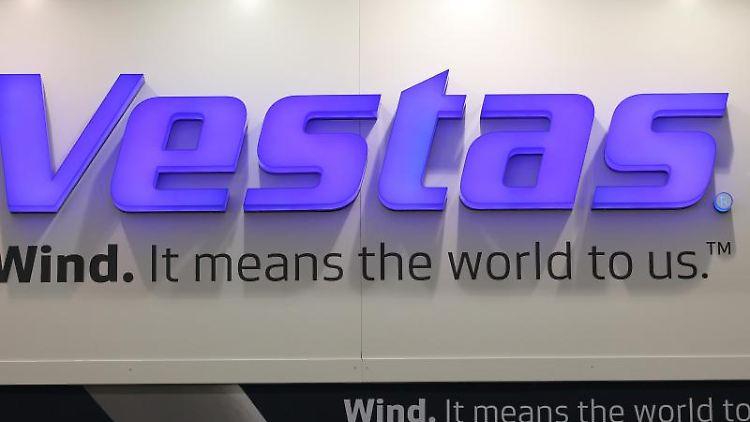 Das Logo des Windanlagenherstellers Vestas. Foto: picture alliance / dpa/Symbolbild