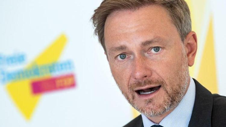 Christian Lindner (FDP)spricht. Foto: Bernd von Jutrczenka/dpa/Archivbild