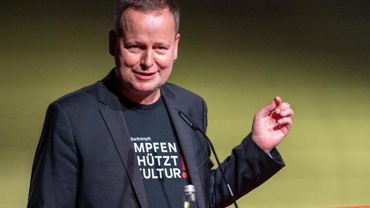 Klaus Lederer (Die Linke)spricht. Foto: Christophe Gateau/dpa/Archivbild