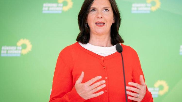 Katrin Göring-Eckardt, Fraktionsvorsitzende von Bündnis 90/Die Grünen, spricht. Foto: Kay Nietfeld/dpa