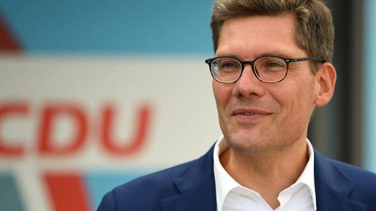 Christian Hirte, Vorsitzender der CDU in Thüringen, spricht. Foto: Swen Pförtner/dpa-Zentralbild/dpa