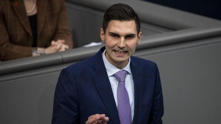 Sepp Müller (CDU), Mitglied des Deutschen Bundestags, spricht. Foto: Fabian Sommer/dpa