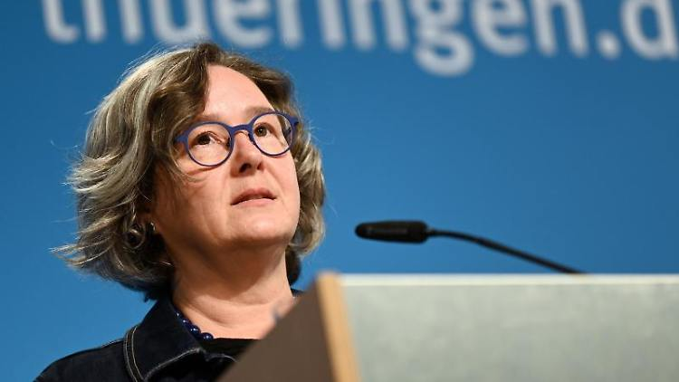 Heike Werner (Die Linke) spricht. Foto: Martin Schutt/dpa-Zentralbild/dpa/Archivbild