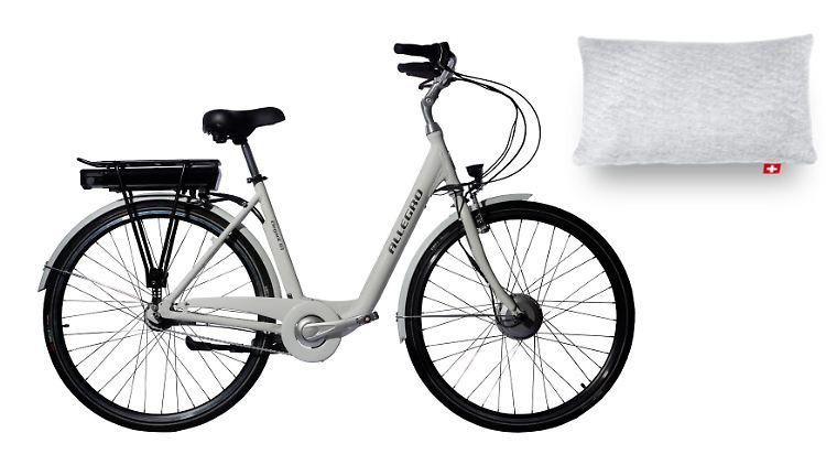 Leser von ntv.de erhalten das Allegro E-Bike Elegant 02 plus Reisekissen zum Sonderpreis.