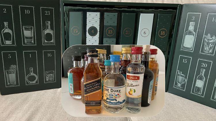 Der neue Spirituosen-Adventskalender von Amazon enthält einige Klassiker, aber auch Trend-Drinks.
