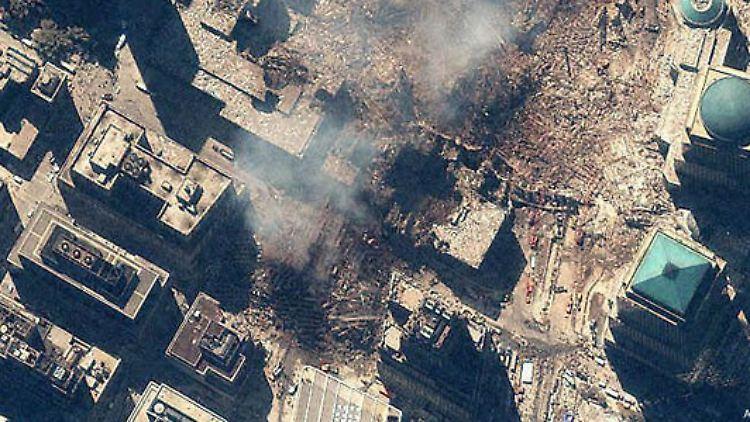 Detail-Aufnahme von den Resten des World Trade Centers.